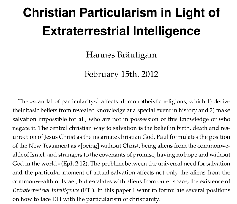 christian particularism 2012